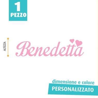NOME IN FELTRO PERSONALIZZATO - BENEDETTA