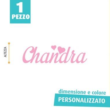 NOME IN FELTRO PERSONALIZZATO - CHANDRA