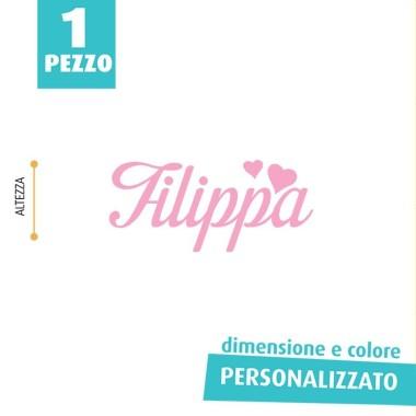 NOME IN FELTRO PERSONALIZZATO - FILIPPA