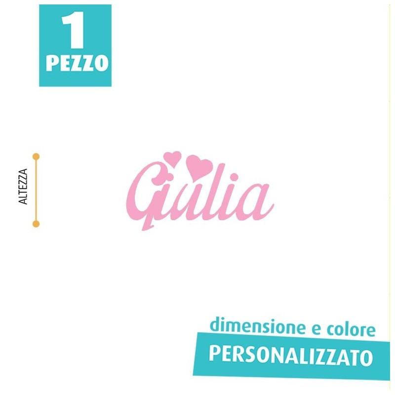 NOME IN FELTRO PERSONALIZZATO - GIULIA
