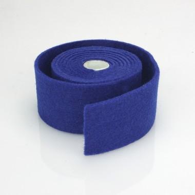 NASTRO IN FELTRO BLU SCURO - DIM. 4 CM  x 150 CM