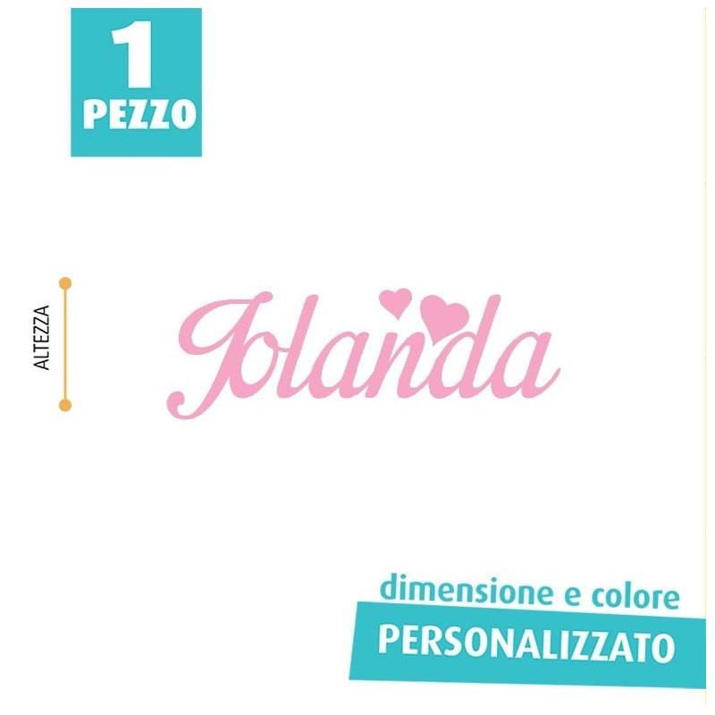 NOME IN FELTRO PERSONALIZZATO - JOLANDA