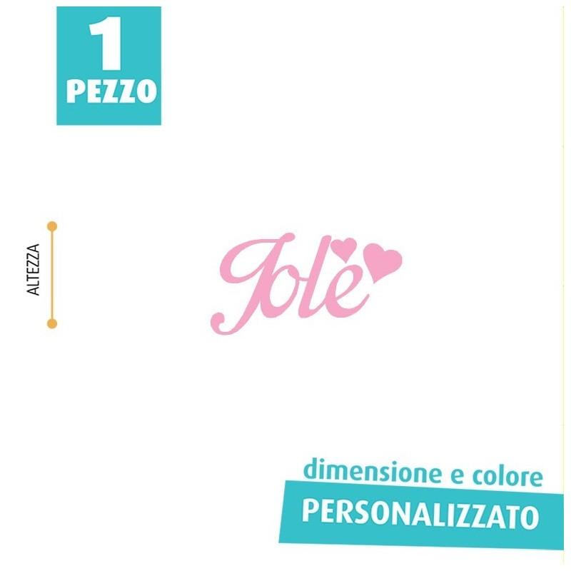 NOME IN FELTRO PERSONALIZZATO - JOLE