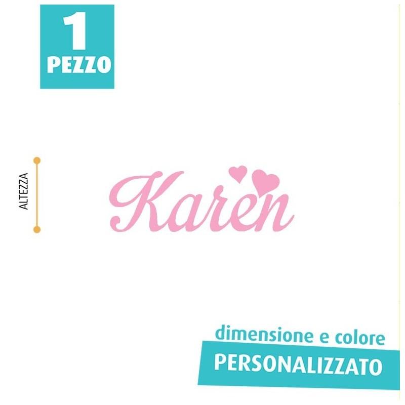 NOME IN FELTRO PERSONALIZZATO - KAREN