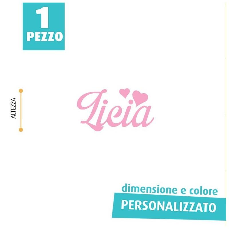 NOME IN FELTRO PERSONALIZZATO - LICIA