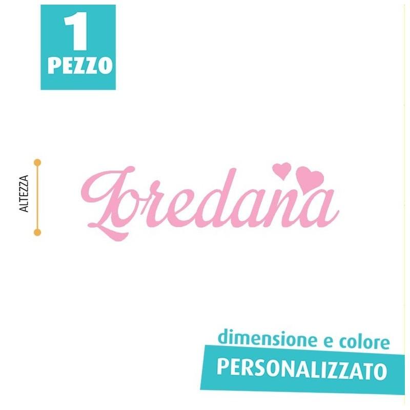 NOME IN FELTRO PERSONALIZZATO - LOREDANA