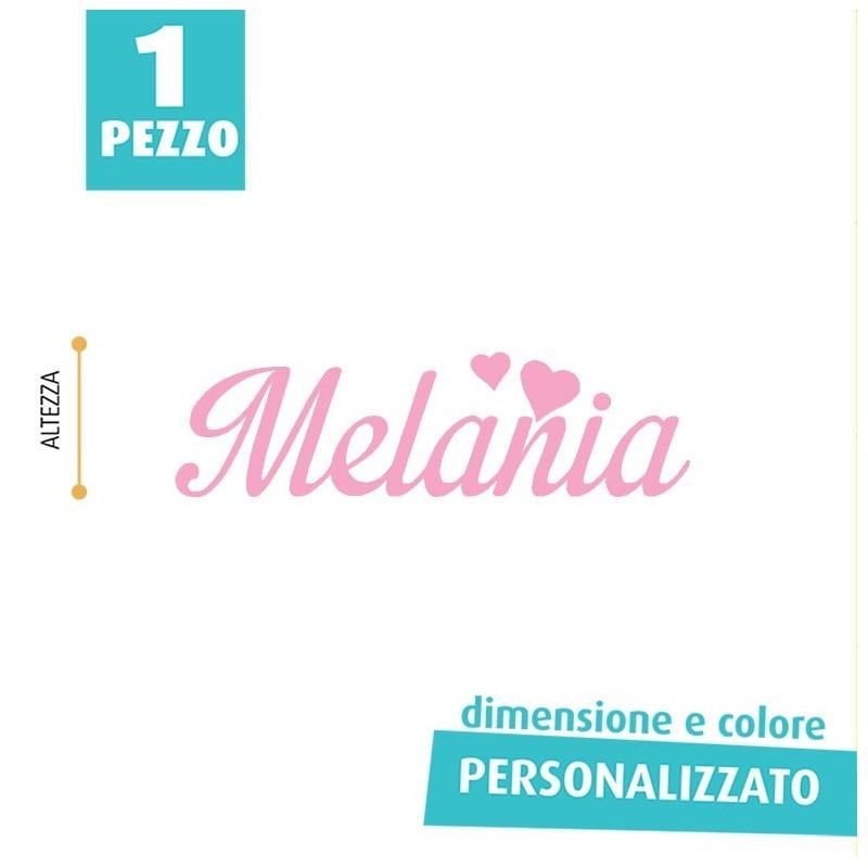 NOME IN FELTRO PERSONALIZZATO - MALANIA