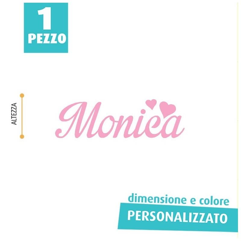 NOME IN FELTRO PERSONALIZZATO - MONICA