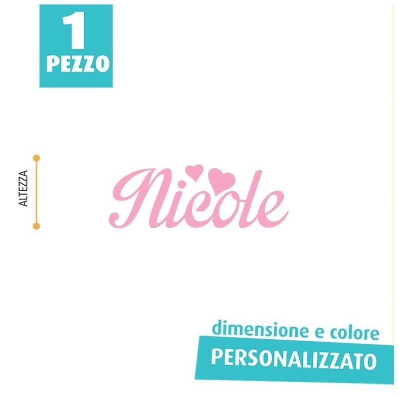 NOME IN FELTRO PERSONALIZZATO - NICOLE