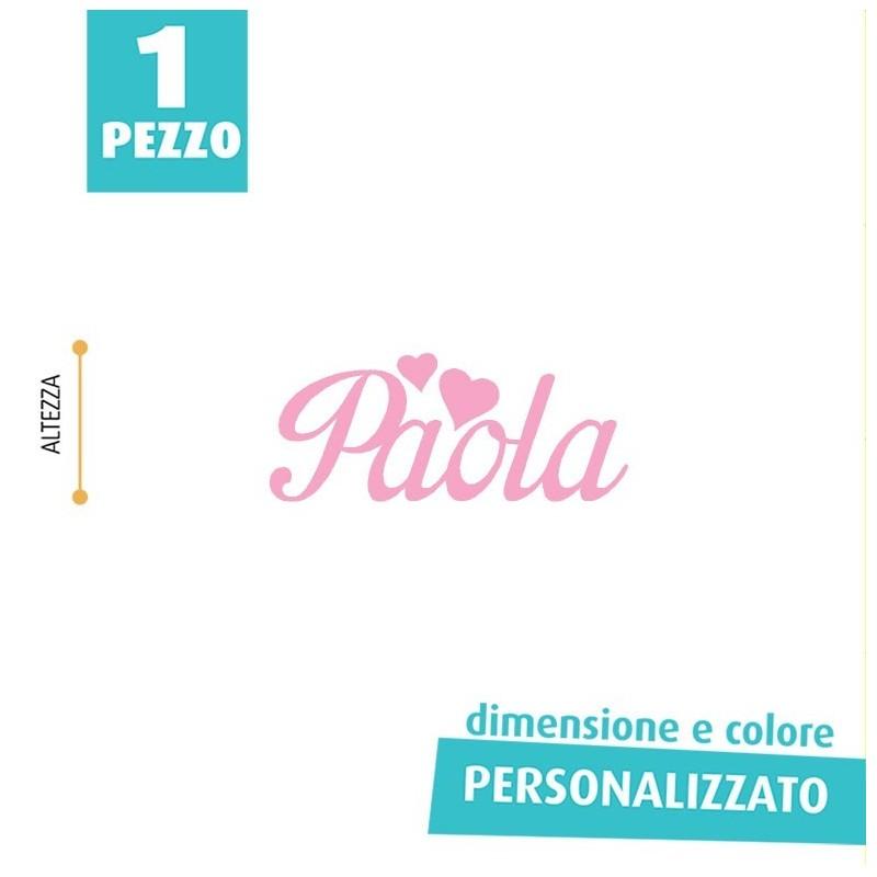 NOME IN FELTRO PERSONALIZZATO - PAOLA