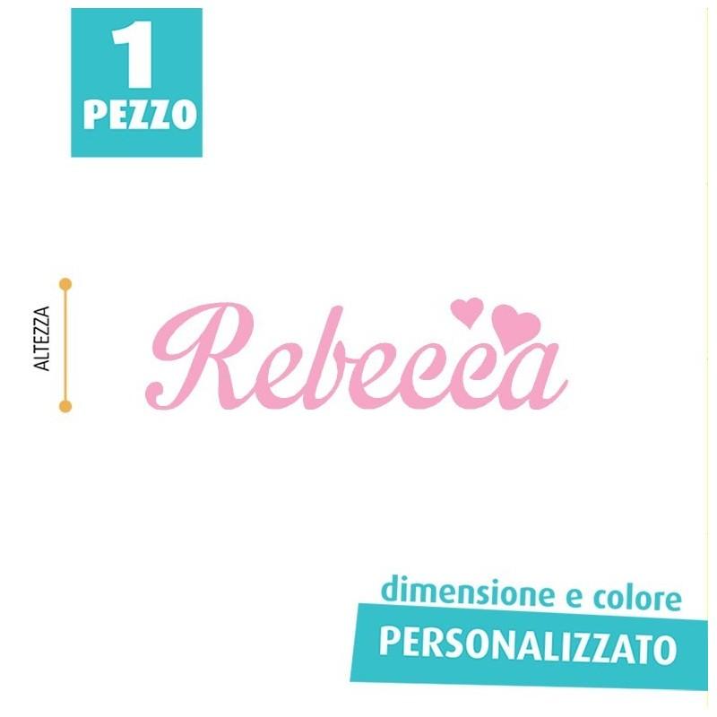 NOME IN FELTRO PERSONALIZZATO - REBECCA