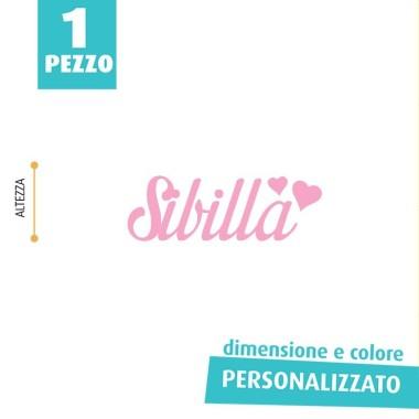 NOME IN FELTRO PERSONALIZZATO - SIBILLA