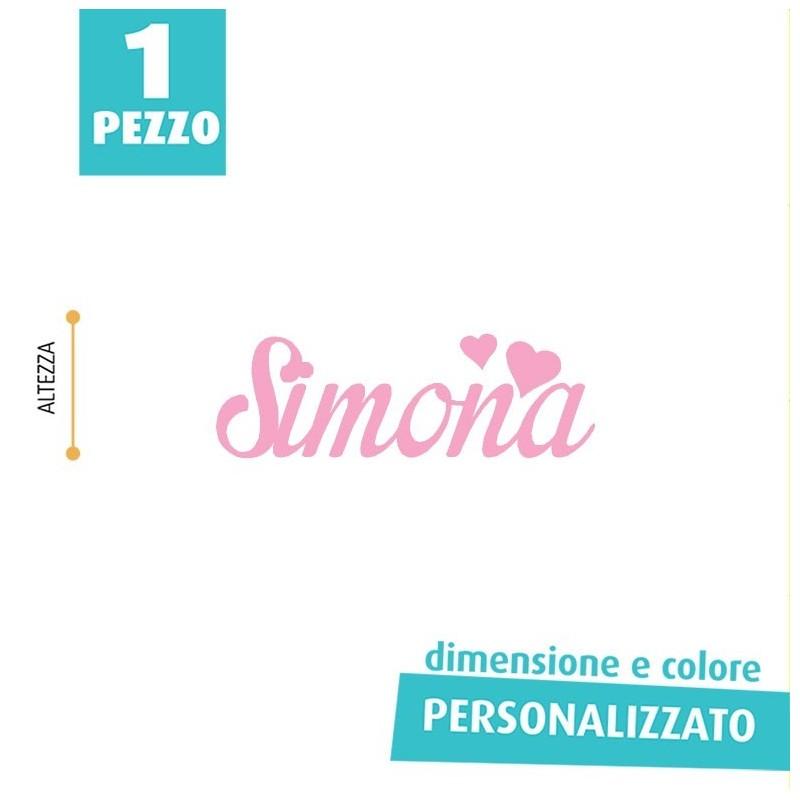 NOME IN FELTRO PERSONALIZZATO - SIMONA