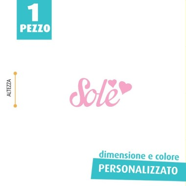 NOME IN FELTRO PERSONALIZZATO - SOLE