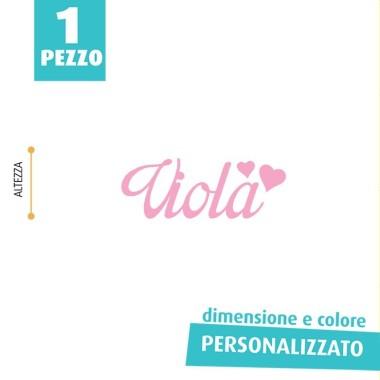 NOME IN FELTRO PERSONALIZZATO - VIOLA
