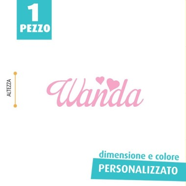NOME IN FELTRO PERSONALIZZATO - WANDA