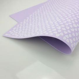GOMMA CREPLA STAMPATA CUORE 40 X 60 CM - LILLA