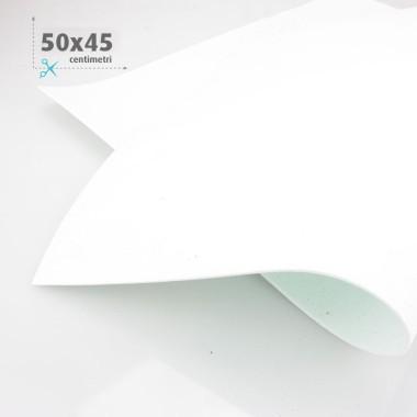 GOMMA CREPLA / MOOSGUMMI / FOMMY GLITTER 50 X 45 CM - BIANCO