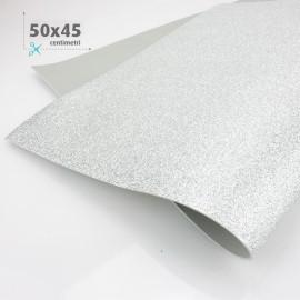 GOMMA CREPLA / MOOSGUMMI / FOMMY GLITTER 50 X 45 CM - ARGENTO