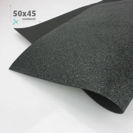 GOMMA CREPLA / MOOSGUMMI / FOMMY GLITTER 50 X 45 CM - NERO