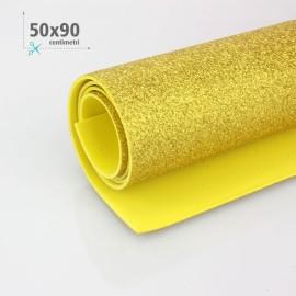 GOMMA CREPLA / MOOSGUMMI / FOMMY GLITTER 50 X 90 CM - ORO