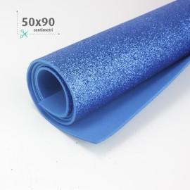 GOMMA CREPLA / MOOSGUMMI / FOMMY GLITTER 50 X 90 CM - BLU ELETTRICO