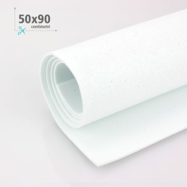 GOMMA CREPLA / MOOSGUMMI / FOMMY GLITTER 50 X 90 CM - BIANCO
