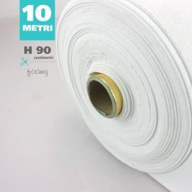 ROTOLO GOMMA CREPLA / MOOSGUMMI / FOMMY GLITTER CM 90 H X 10 MT - BIANCO