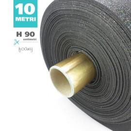 ROTOLO GOMMA CREPLA / MOOSGUMMI / FOMMY GLITTER CM 90 H X 10 MT - NERO