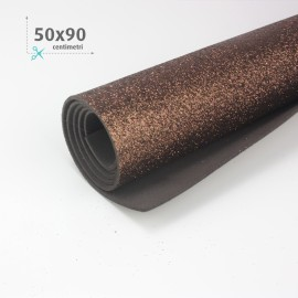 GOMMA CREPLA / MOOSGUMMI / FOMMY GLITTER 50 X 90 CM - MARRONE
