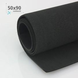 GOMMA CREPLA / MOOSGUMMI / FOMMY 50 X 90 CM - NERO