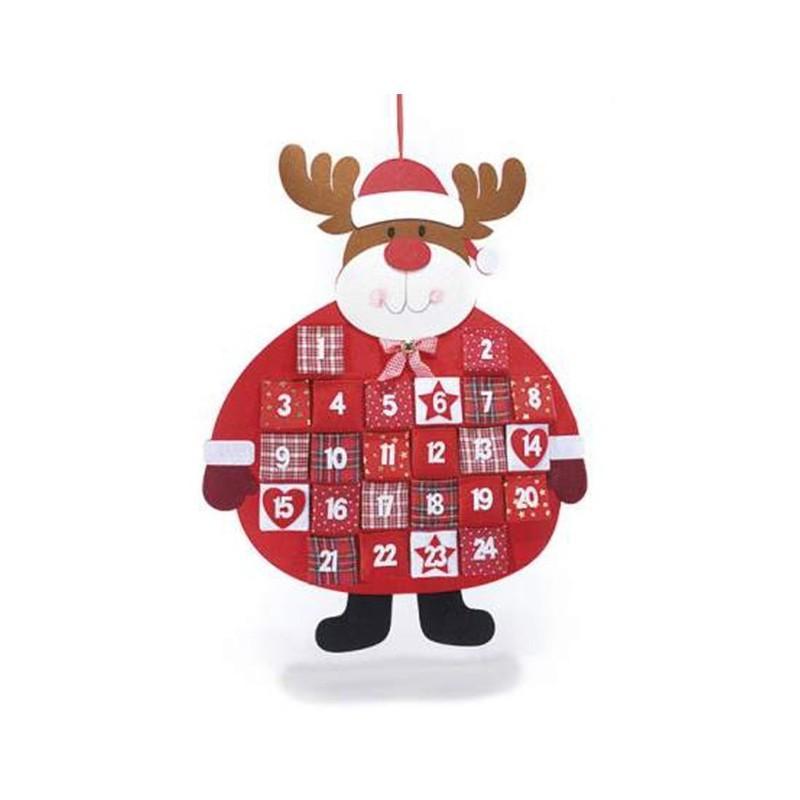 Calendario Dellavvento In Feltro.Calendario Dell Avvento In Feltro Con Taschine Renna