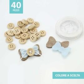 KIT RISPARMIO 40 FIOCCHETTI IN FELTRO E PANNOLENCI DA ASSEMBLARE