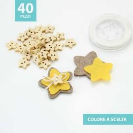 KIT RISPARMIO 40 STELLE IN FELTRO E PANNOLENCI DA ASSEMBLARE