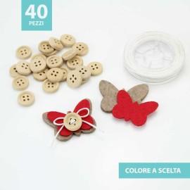 KIT RISPARMIO 40 FARFALLE IN FELTRO E PANNOLENCI DA ASSEMBLARE