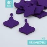 KIT RISPARMIO 40 TROTTOLE IN FELTRO - DIMENSIONI A SCELTA