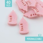 KIT RISPARMIO 50 BIBERON IN FELTRO - DIMENSIONI A SCELTA