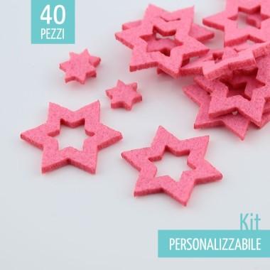 KIT RISPARMIO 40 STELLE IN FELTRO - DIMENSIONI A SCELTA