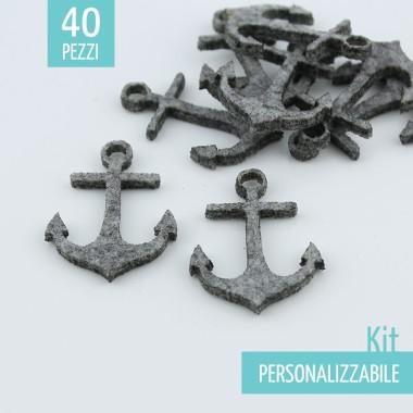 KIT RISPARMIO 40 ANCORE IN FELTRO - DIMENSIONI A SCELTA
