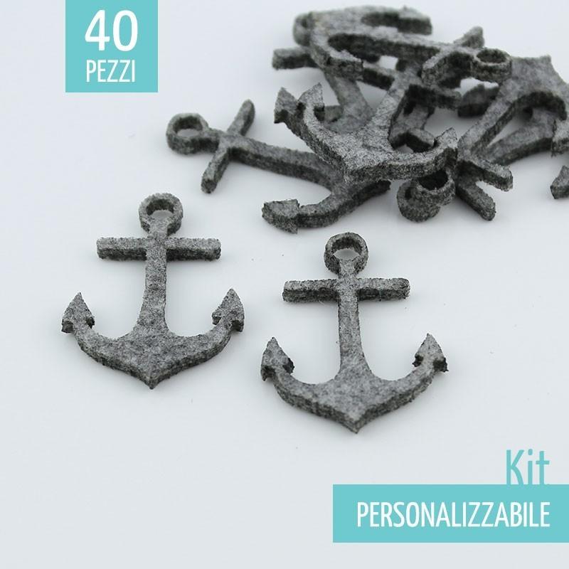 KIT RISPARMIO 45 ANCORE IN FELTRO - DIMENSIONI A SCELTA