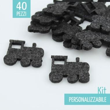 KIT RISPARMIO 40 TRENI IN FELTRO - DIMENSIONI A SCELTA