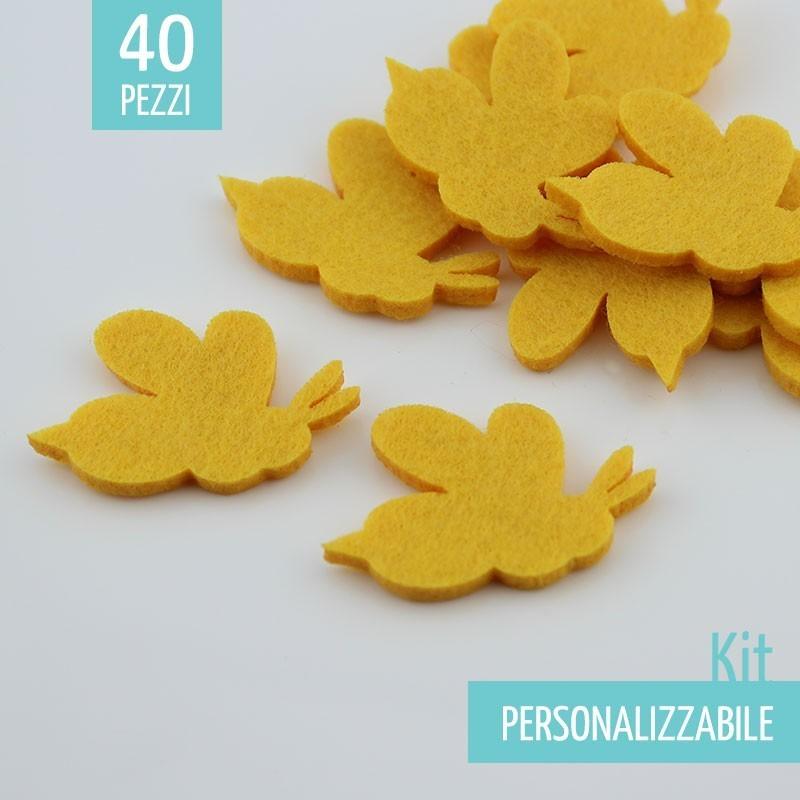 KIT RISPARMIO 40 API IN FELTRO - DIMENSIONI A SCELTA