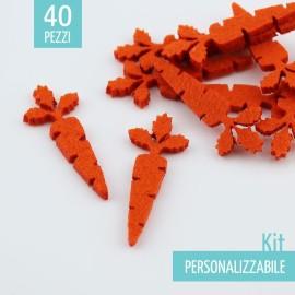 KIT RISPARMIO 40 CAROTE IN FELTRO - DIMENSIONI A SCELTA