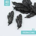 KIT RISPARMIO 60 PIUME IN FELTRO - DIMENSIONI A SCELTA
