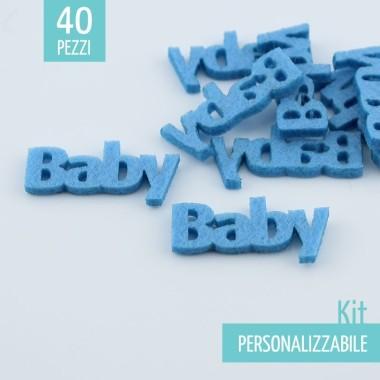"""KIT RISPARMIO 40 SCRITTE """"BABY"""" IN FELTRO - DIMENSIONI A SCELTA"""