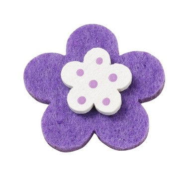 10 THE FLOWERS IN THE COLORED FELT AND WOOD - VIOLET