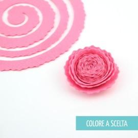 """ROLLED FLOWER """"MODELLO 2"""" IN PANNOLENCI MO- COLORE A SCELTA"""