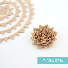 """ROLLED FLOWER """"MODELLO 11"""" IN PANNOLENCI MO- COLORE A SCELTA"""