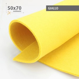 KIT SAVINGS 5 SHEETS OF FELT 50X70 CM - BORDEAUX/YELLOW