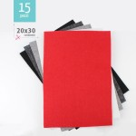 KIT RISPARMIO 15 FOGLI FELTRO 20X30 CM - DESIGN